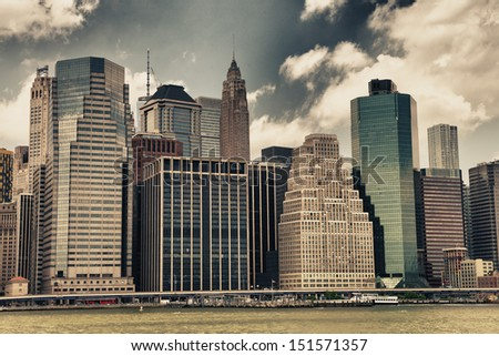 Buildings of Manhattan - New York skyline. - stock photo