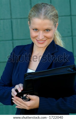 buiness woman - stock photo