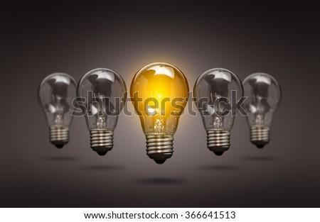 Bulb Idea Light Creative Innovation Leader - stock photo