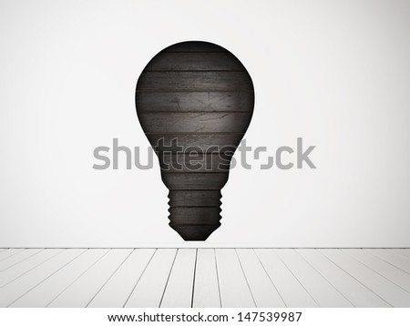bulb-shaped hole in the wall - stock photo
