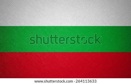 Bulgaria flag leather texture - stock photo