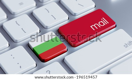 Bulgaria High Resolution Mail Concept - stock photo