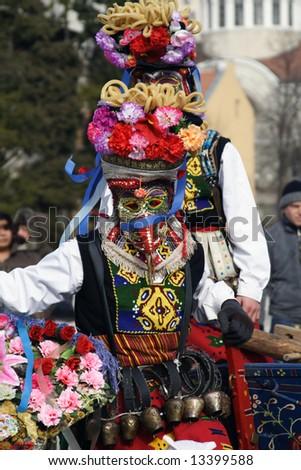 Bulgaria mummers parade 2008 - stock photo