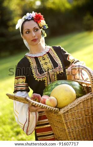 Bulgarian girl - stock photo