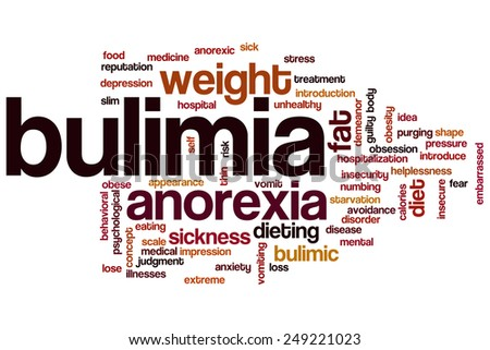 Bulimia word cloud concept - stock photo