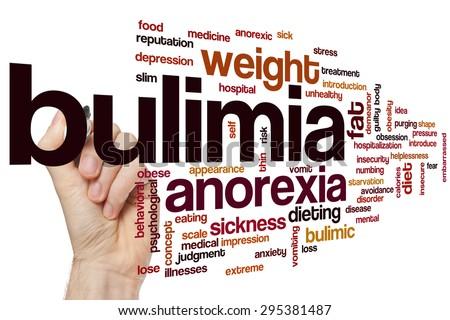 Bulimia word cloud concept - stock photo