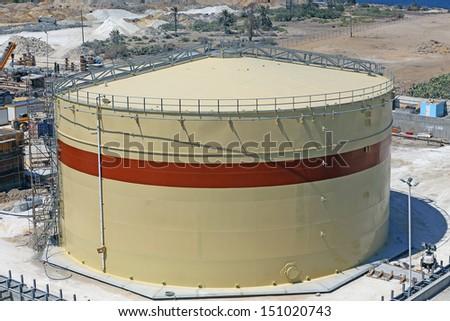 Bulk fuel oil tank - stock photo