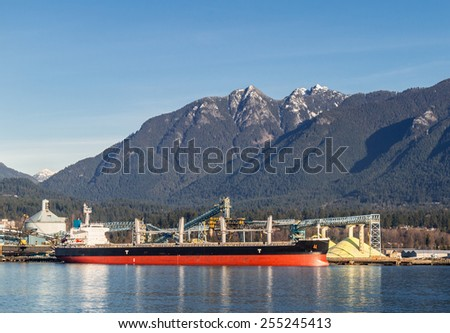 Bulk Terminal in North Vancouver, Canada - stock photo