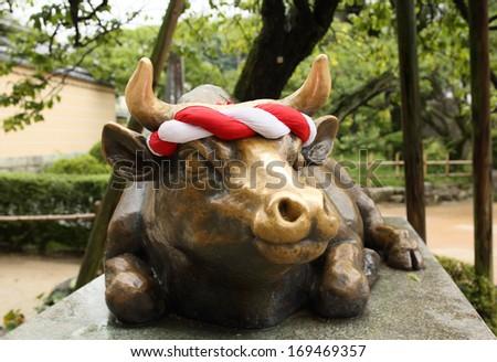 bull Dazaifu - stock photo