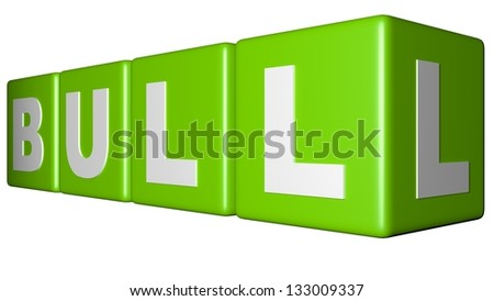 Bull green cubes - stock photo