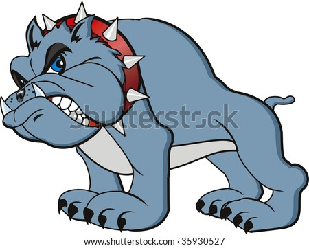 Angry Cartoon Bulldog
