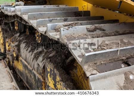 bulldozer parts - stock photo