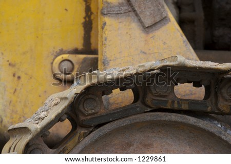 Bulldozer Track Detail - stock photo