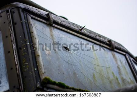 bullet hole - stock photo
