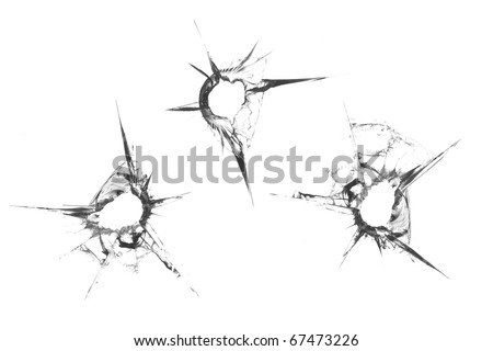 bullet holes - stock photo