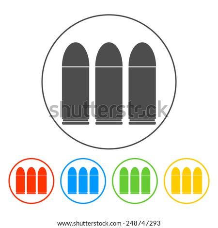 bullet icon, set.   - stock photo
