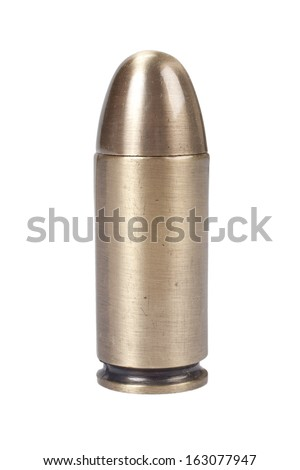 bullet on white background - stock photo
