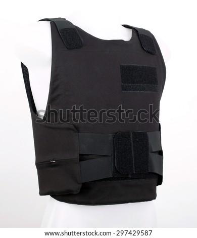 Bulletproof vest, body armor covers, Camouflage, black - stock photo