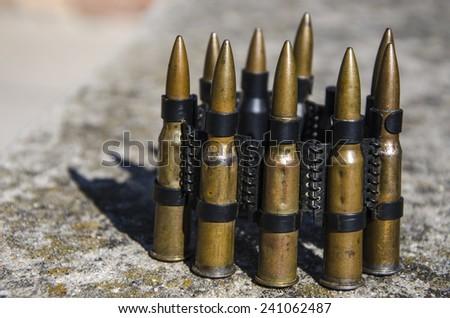 Bullets close up - stock photo