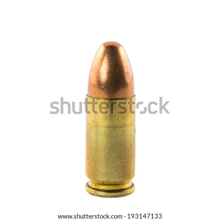 bullets isolated on white background - stock photo