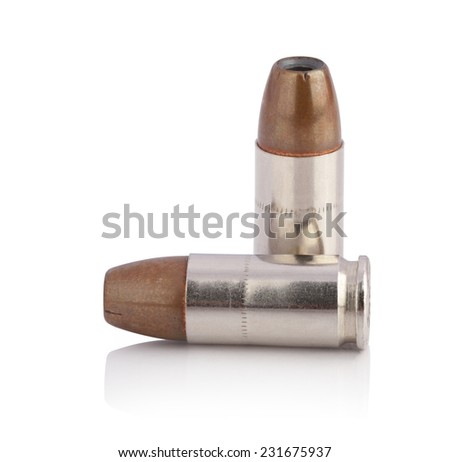 bullets isolated on white background. This has clipping path. - stock photo