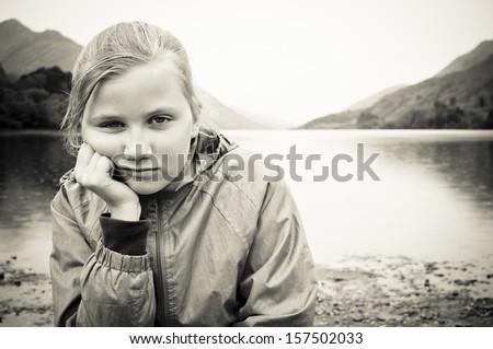Bullied girl - stock photo