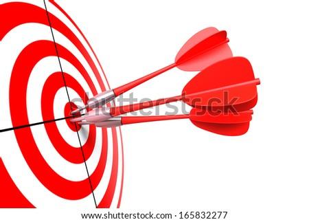 bullseye with darts - stock photo