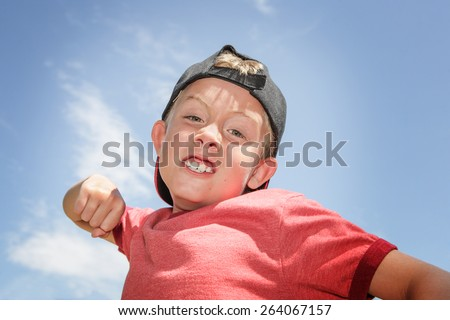 Bully making a fist - stock photo