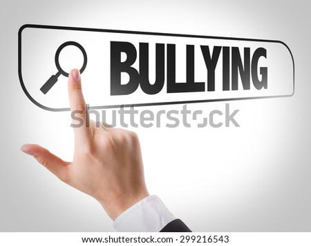 Bullying written in search bar on virtual screen - stock photo