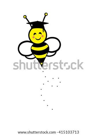 Bumble Bee - graduation - stock photo