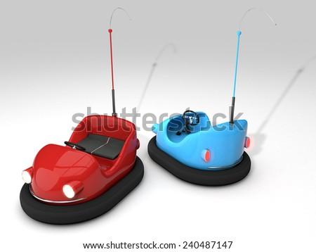 bumper cars - stock photo