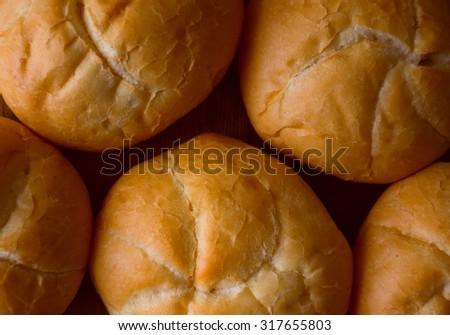 bun; background bun ; bread - stock photo