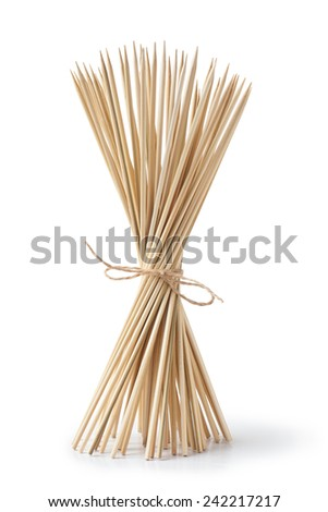 bunch of bamboo sticks - stock photo