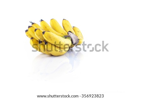 Bunch of bananas isolate on white background. - stock photo