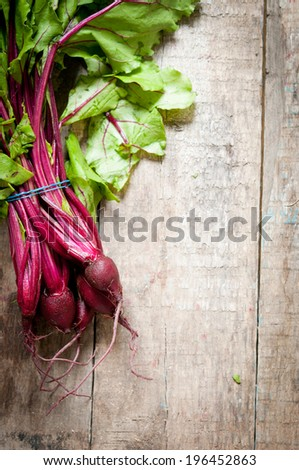 Bunch of beetroot - stock photo