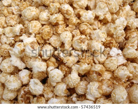 Bunch of Kettle Corn Popcorn in a pile making a cool pattern - stock photo
