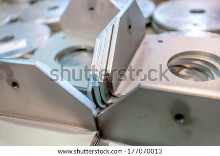 Bunch of metal components - stock photo