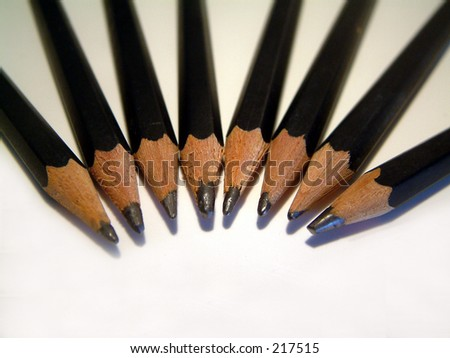 Bunch of pencils. - stock photo
