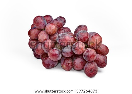 Bunch of red grapes - stock photo