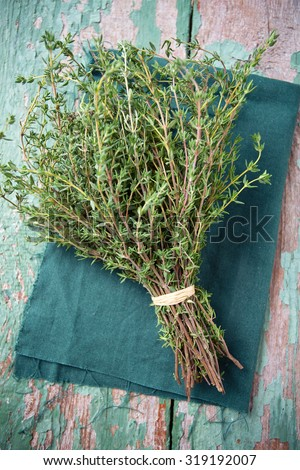 bunch of thyme - stock photo