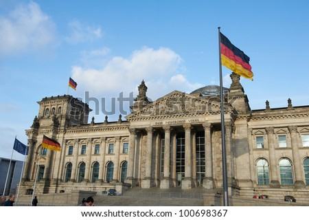 Bundestag - german government building - stock photo