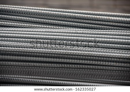 bundle steel rods for industry, building, construction  - stock photo