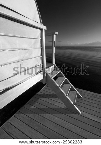 Bungalow Lower Dock - stock photo