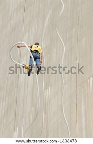 Bungee jump - stock photo