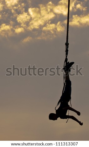 Bungee jumping - stock photo