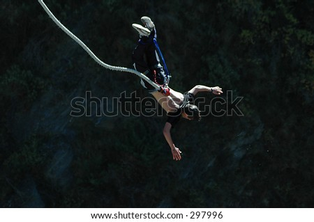 Bungy jump - stock photo