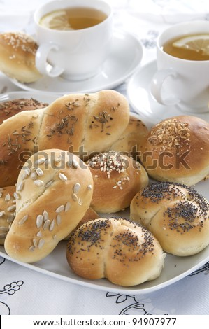 buns with seeds - stock photo