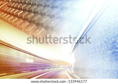 Bunter Internet Hintergrund - stock photo