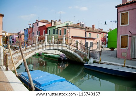 Burano island, Venice, Italy - stock photo