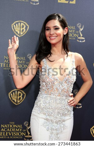 BURBANK - APR 26: Camila Banus at the 42nd Daytime Emmy Awards Gala at Warner Bros. Studio on April 26, 2015 in Burbank, California - stock photo